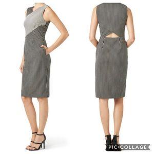 RACHEL Rachel Roy Mixed Stripe Sheath Pocket Dress